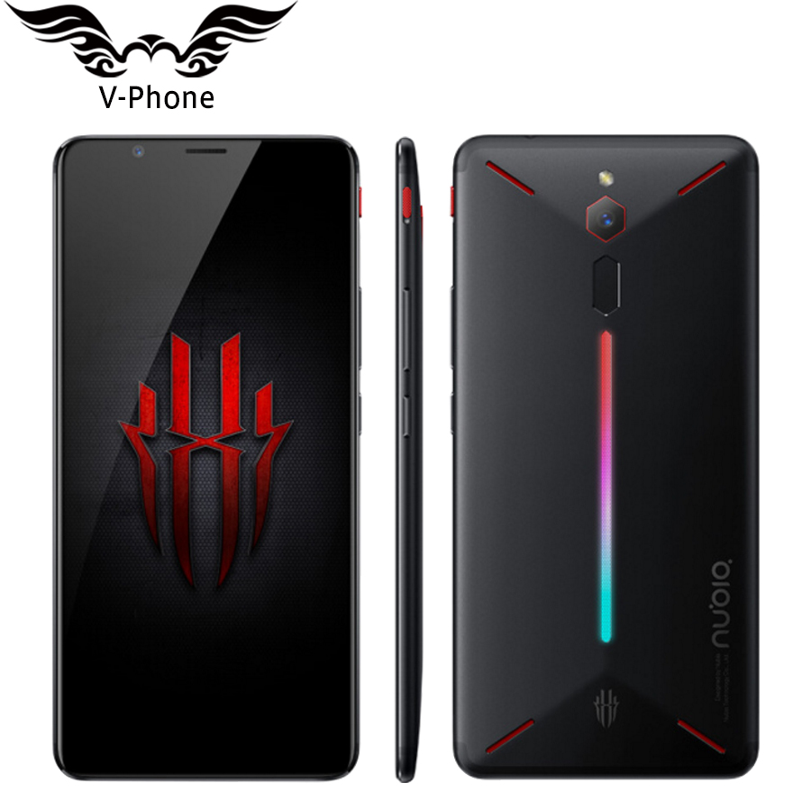 "Global Firmware ZTE Nubia Red Magic 4G LTE Mobile Phone 6GB 64GB Snapdragon 835 6"" Octa Core Full Screen Fingerprint Android 8.1"