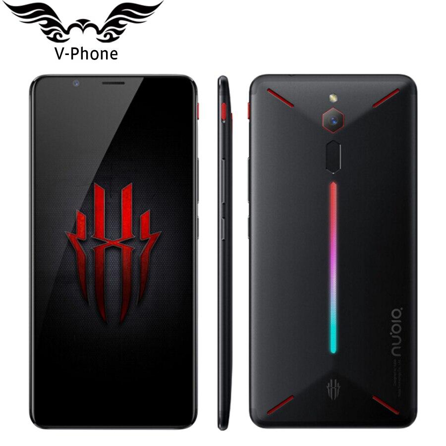 Nouvelle D'origine ZTE Nubia Rouge Magique 4g LTE Mobile Téléphone 6 gb 64 gb Snapdragon 835 6 Octa core Plein Écran D'empreintes Digitales Android 8.1