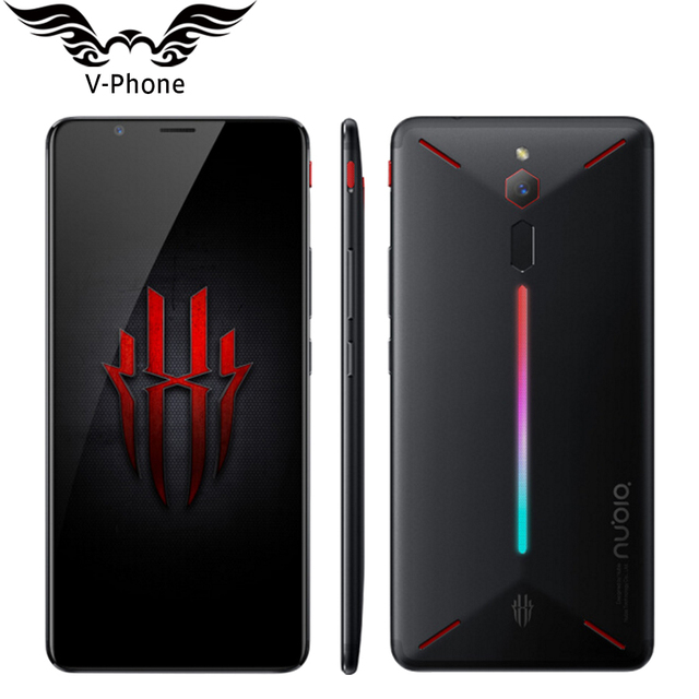 "ZTE Nubia Red Magic Game Mobile Phone 6"" Octa Core 8GB RAM 128GB ROM Full Screen Fingerprint Android 8.1 4G LTE Smartphone"