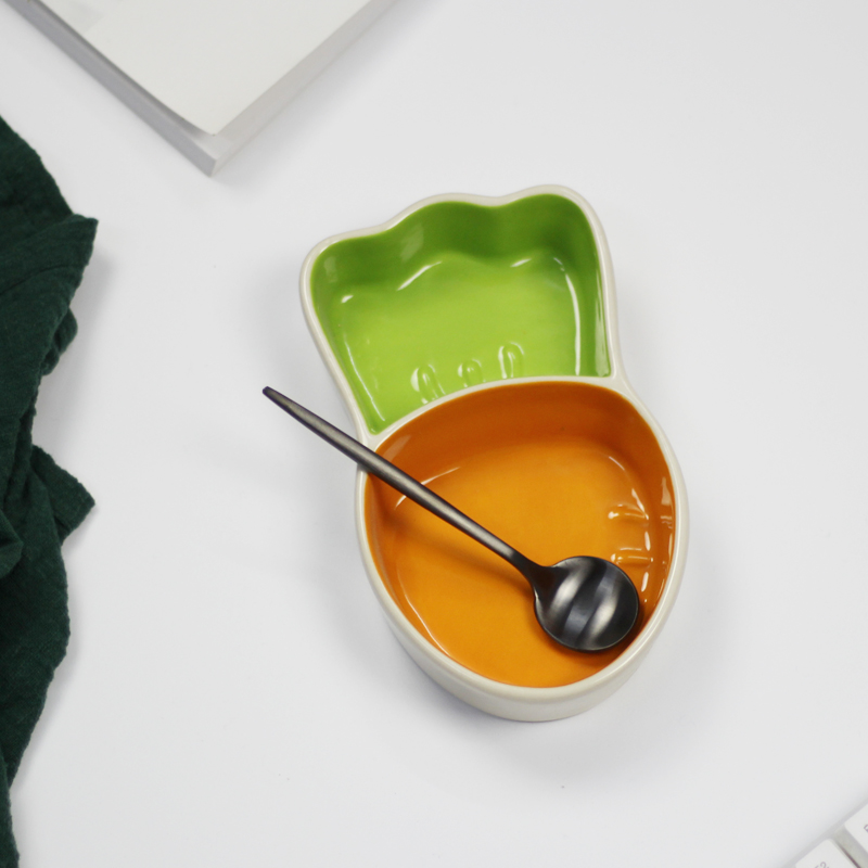 Best Design Ceramic Carrots Shape Plate Kid Porcelain Dinnerware Durable  Cute Breakfast Food Soup Snacks Candy Nuts Dish Tray In Dishes U0026 Plates  From Home ...
