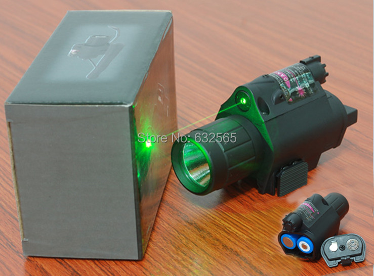 2 in 1 Tactical M6 LED Flashlight/Light 200LM+ Green Laser Sight Combo for Airsoft Hunting, 3pcs/Lot