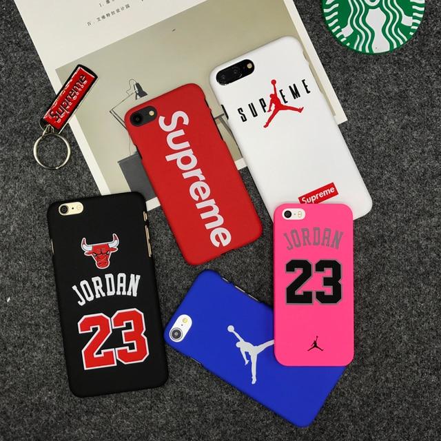 ホット最高裁ブランドジョーダンブルスポーツマットハードプラスチック保護ケース用iphone 7 7プラス5 5 s se 6 s 6 sプラスcoqueカバーケース