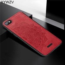 Xiaomi Redmi 6A Chống Sốc TPU Mềm Dẻo Silicone Vải Họa Tiết Cứng PC Ốp Lưng Điện Thoại Xiaomi Redmi 6A Nắp Lưng Xiaomi Redmi 6A Fundas