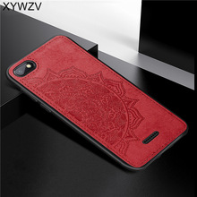 Xiaomi Redmi 6A Shockproof Soft TPU Silicone Cloth Texture Hard PC Phone Case Back Cover Fundas