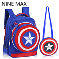 Star Shield School Bags for Boys Girls Children Backpacks Primary Students Backpack Waterproof Kids Mochila Infantil Zip
