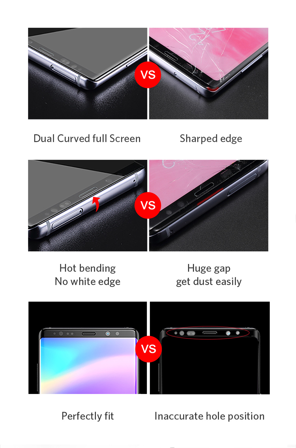 Benks Full Cover Tempered Glass 9H For Samsung Note9 0.3mm Thin Protector Screen Front Film (11)