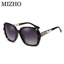 MIZHO 7609 Superstar Plastic Butterfly Polarized Sunglasses Women Brand Designer Vintage Fashion Transparent Original Case 2018