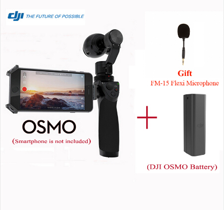 Free Gift Microphone DJI OSMO Handheld 4K Camera and Stabilizer Original 3-Axis Gimbal with Extension Stick & Extra Battery