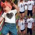 Toddler Baby Boys Girls Cotton Summer T-Shirt Outfits Couple Love Famil Matching Clothes Shirts Tee Tops