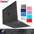 Redlai Plastic Hard Case For MacBook Air 13 A1932 Pro Retina 13 15 16 Inch 2019 Touch Bar A2141 Keyboard CoverScreen Protector