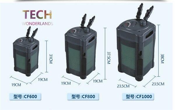 Aquarium Water Purifier CF-600 CF-800 Fish Tank Pressurized External Canister Filter 2