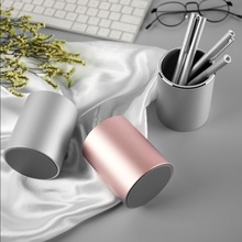 купить Student Desktop Decoration Office Metal Aluminum Alloy Pen Holder Brush Pot Pencil Vase Pen Storage дешево
