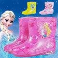 2017 todas las estaciones lindo de la historieta de los hombres y mujeres de los niños botas de lluvia antideslizantes impermeables botas de lluvia de bebé aqua zapatos de los niños de los niños