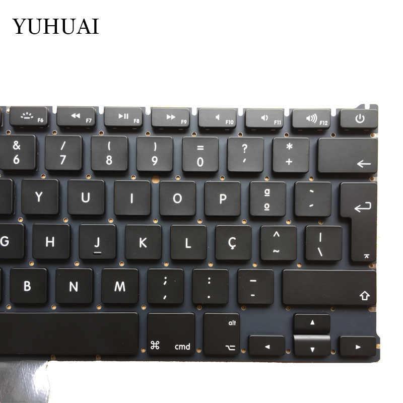 """Baru Portugal Keyboard untuk Mac Book Air 13 """"A1466 A1369 dengan Lampu Latar Keyboard Laptop MD231 MD232 MC503 MC504 2011- 15 Tahun"""