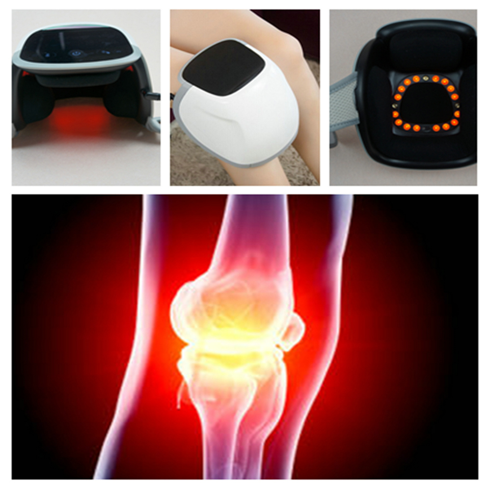 Cold Laser Knee Massager. Pain Reliever. Electric Care heating vibrating LED laser light therapy