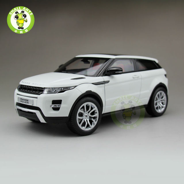 1:18 Scale Range Rover Evoque Diecast Car Suv Model GT AUTOS White