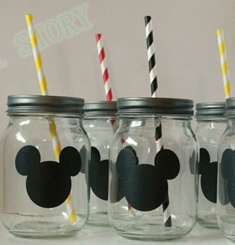 12 pcs Mickey Mouse Sticker Vinyl Decals , Chalkboard Labels Mickey Mouse For Kids ,5H018