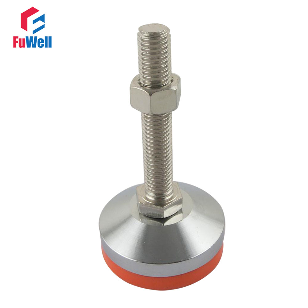 M12/M16/M20 Thread Adjustable Foot Cups 80mm Diameter Chrome Plated 80/100/120/150mm Thread Length Articulated Leveling Foot диски helo he844 chrome plated r20