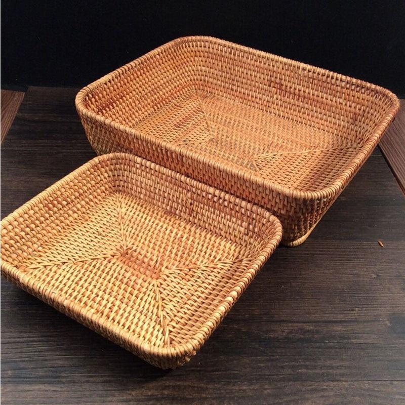 bocadillos tuercas cesta de frutas de mimbre Cocina Almacenamiento y - Organización y almacenamiento en la casa