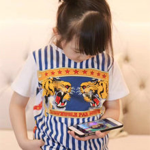2017 Baby Kids Clothes Cool Tiger Animal Pattern T shirt Summer Fashion Tops Tee for Boys and Girls Cotton T-shirt Clothing