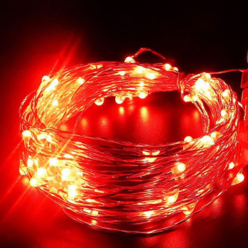 1/2/3/4/5m Home Decor Led Strip String Lights Battery Cr2032waterproof Led Copper Wire String Lights For Christmas Wedding Party