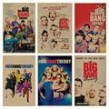 The Big Bang Theory movie retro Poster Retro Kraft Paper Bar Cafe Home Decor Painting Wall Sticker