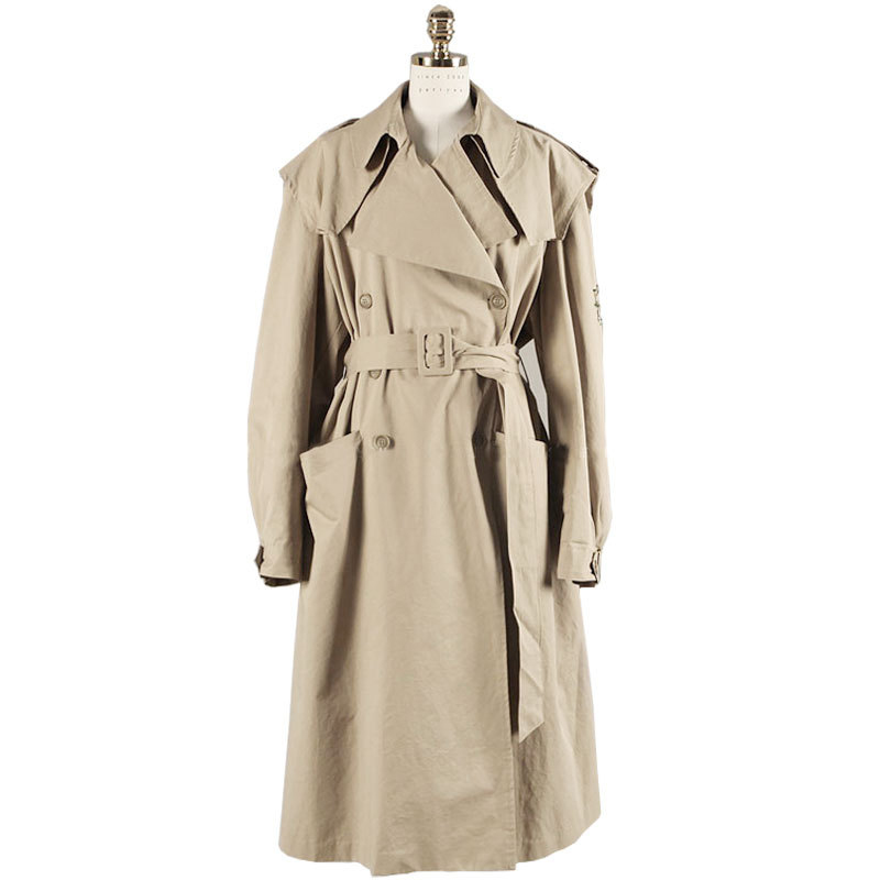 Liva girl 2019 Autumn New High Fashion Brand Women Classic Double Breasted   Trench   Coat Raincoat Business Outerwear