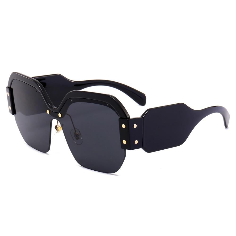 Coucou carré demi trame lunettes de soleil femmes marque designer 2018 rose  bleu de luxe polygone surdimensionné lunettes de soleil des femmes uv400  dans ... 095773f62d58