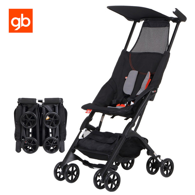GB Super Light Pockit Stroller 1S Fold Ultra Compact Baby Pram Fabric Removable Pushchair Luxury Umbrella Trolley for Aircraft