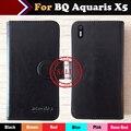 Hot!! bq aquaris x5 caso o preço de fábrica 6 cores bolsa em couro exclusivo para bq aquaris x5 especial tampa saco do telefone + rastreamento