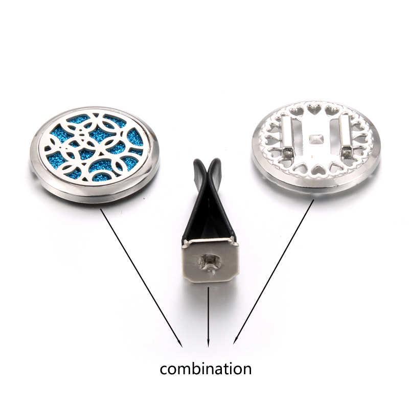 取り外し可能なステンレス鋼車の空気ディフューザー清浄香水エッセンシャルオイルディフューザー香水アロマネックレスロケットギフト