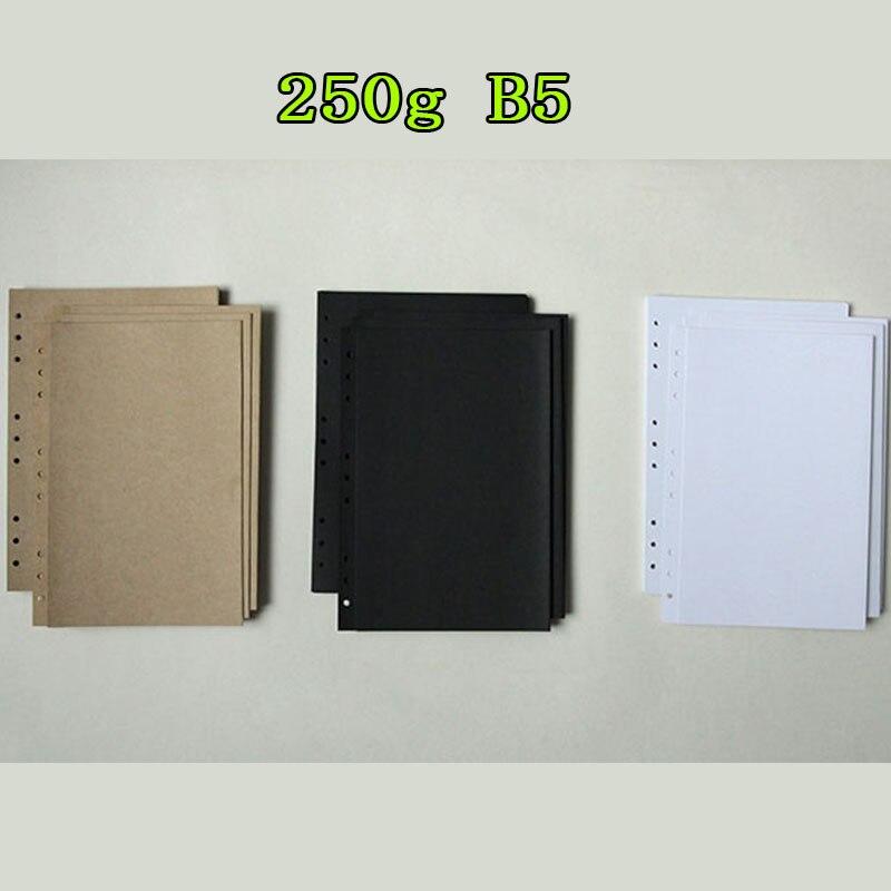 250g B5 9 Holes Black Kraft White Vintage Photo Paper