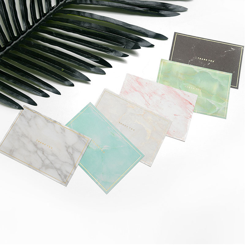 100pcs 10.5*7 Cm Big Greeting Card Marble Pattern Thank You Card Tag Printed Tags Packing Card Accessory Customize Wholesale