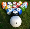 #5 1set/all 16pcs Snoolballs game.22.1cm Snook and Football.Poolball sport table game