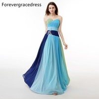 Forevergracedress Real Picture Multi Colors Rainbow Prom Dress A Line Crystals Backless Long Formal Party Gown