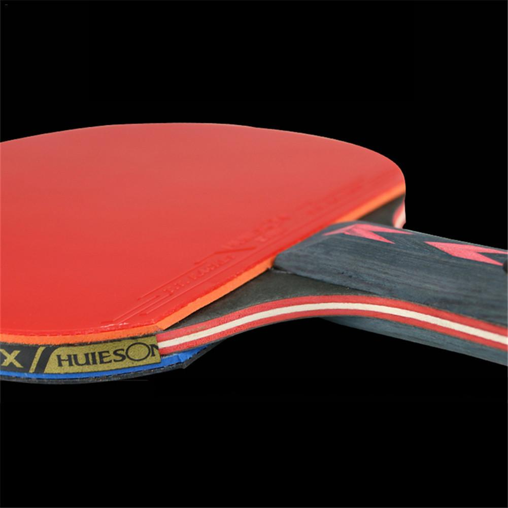 Huieson 2Pcs//Pair Carbon Fiber Table Tennis Racket Ping Pong Paddle Bat With Bag