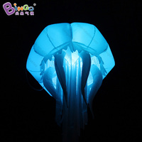 Personalized 1.3m high led inflatable jellyfish balloon / inflatable decorating jellyfish balloon / jellyfish inflatable toy