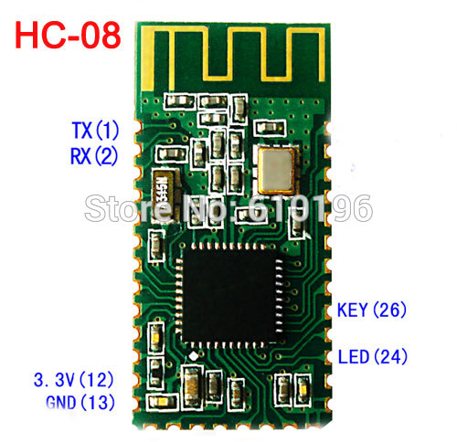 HC-08 Bluetooth Serial Port Module Bluetooth 4.0 Low Power Consumption Microampere Level Current