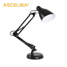 desk lamps reading table lamp bedroom bedside light metal desk light modern table lights night light black white red E27 90-260V vintage lampshade adjustable table lamps lights retro brief iron plated durable desk light study classic black metal table light