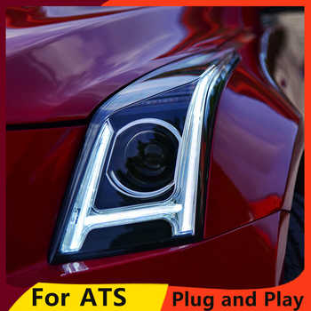 KOWELL Car Styling for Cadillac ATS Headlights 2014-2016 ATS ALL  LED Headlight DRL Bi-LED Lens High Low Beam Parking Fog Lamp - DISCOUNT ITEM  20% OFF All Category