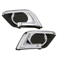 Car LED DRL Daytime Running Lights With Fog Lamp Hole For Nissan X Trail Xtrail 2014