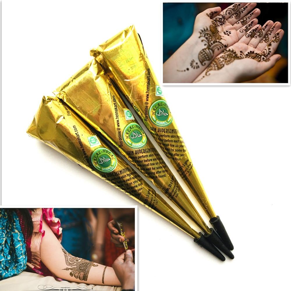 Henna Tattoo Paste Cost: Aliexpress.com : Buy 3PCS/LOT Brown Ink Color Mehndi Henna