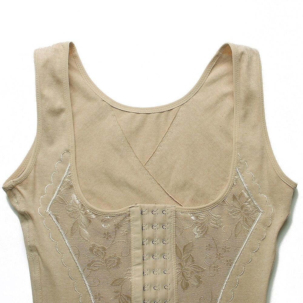 aa5d63687e 100% Cotton Women Body Shaper Slimming Vest Shaper Tummy Belt Shapewear  Underwear Waist Cincher Corset Trainer Control Slim -in Tops from Underwear  ...