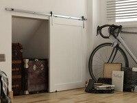 DIYHD 39 Brushed Stainless Steel Mini Strap Cabinet Barn Door Hardware To Hang 1 Door No