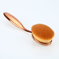 Rose Gold Color Single Makeup Brush Tooth Brush Shape Oval Cosmetic Brush For Foundation Powder Eyeshadow