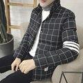 2016 зимняя мода новый Корейский мода хлопок молодежи простой простой плед полосы личность теплый большой размер мужчин горячий продавать прилив