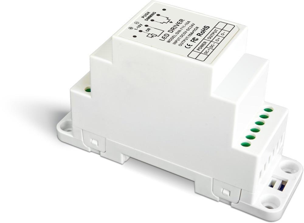 DIN-711-10A;CV 0-10V, 1-10V Dimming Driver(DIN rail/Screw dual-use) lt 704 5a 4ch cv 0 10v 1 10v dimming driver
