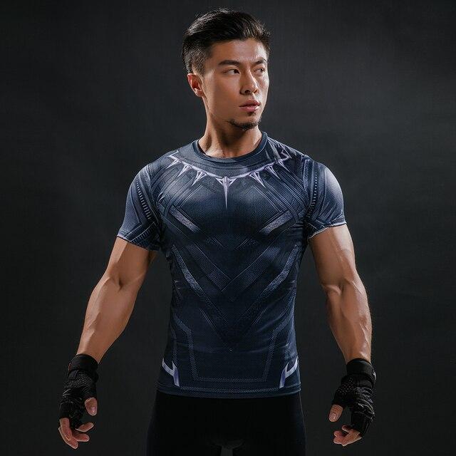 פנתר השחור חדשים מותג 3D חולצה קיץ מודפס חולצה דחיסת הגברים קרוספיט חולצת טי שרוול קצר חולצה מזדמן חולצות & Tees