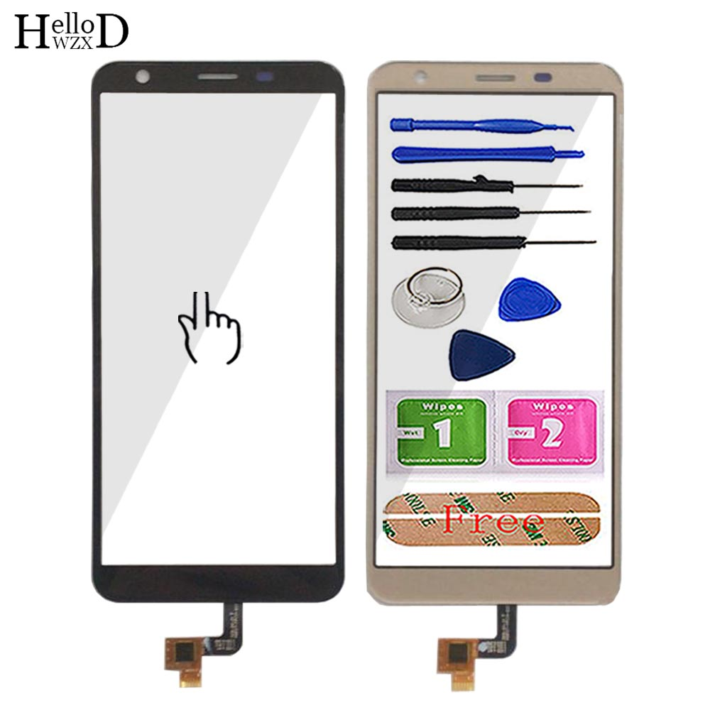 Mobile Touch Screen For Oukitel C11 Pro TouchScreen Phone Front Glass 5.45'' Digitizer Panel Sensor Repair Tools Adhesive