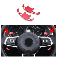 Car Steering Wheel Shifter Paddle Extend Replacement 2pcs for Volkswagen Golf Mk7 GTI R GTD POLO GTI 2014 2018 Jetta R 16 18